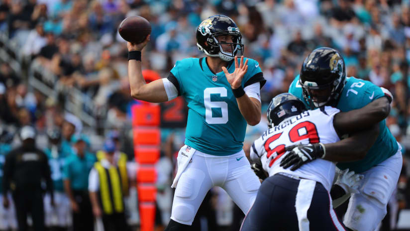 Jacksonville Jaguars Quarterback Cody Kessler (6)during A NFL Football Game  Against, Sunday