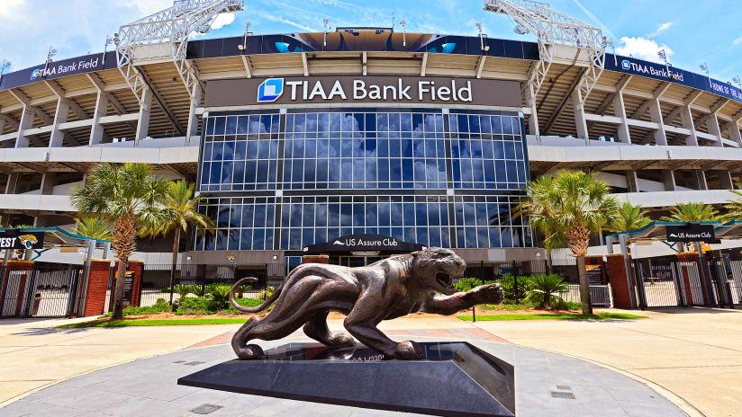 Beautiful Exterior Image Of New TIAA Bank Field Stadium Signage, Home Of The Jacksonville  Jaguars,