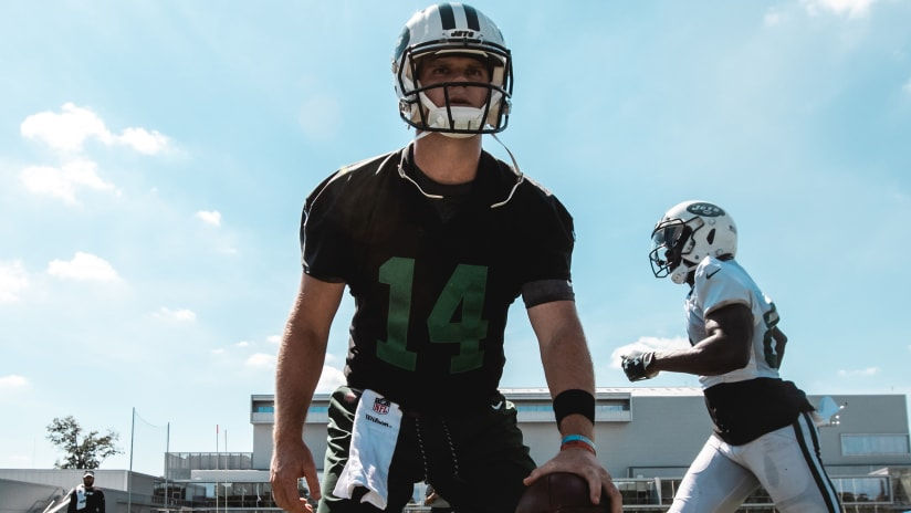 Image result for sam darnold in black practice jersey