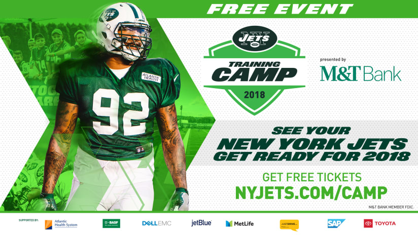 buy online 70534 ccec3 Jets Announce 2018 Training Camp Schedule