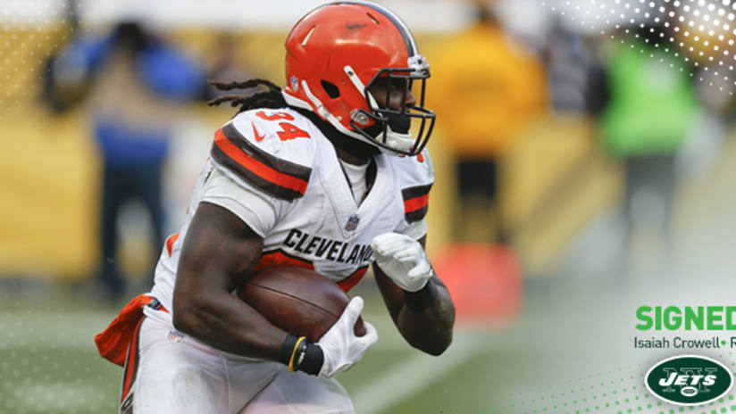the best attitude 004ca 652f2 Jets Sign RB Isaiah Crowell