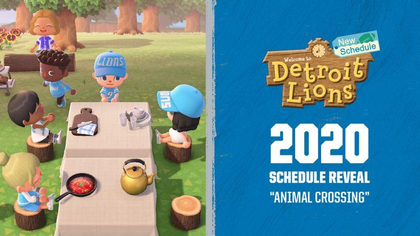 Οι Detroit Lions αποκαλύπτουν το πρόγραμμα τους με ένα βίντεο Animal Crossing: New Horizons!