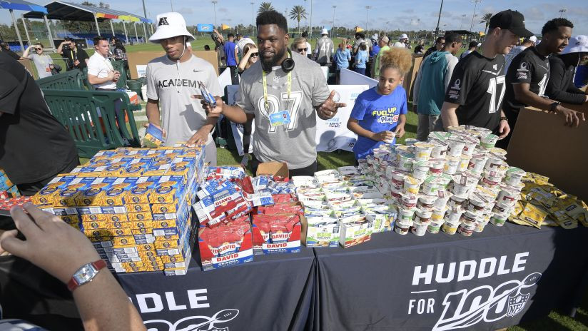 Huddle for 100 Culminates with Events Throughout Florida at Pro Bowl and Super Bowl