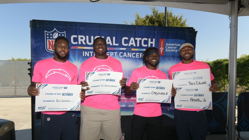 NFL, Los Angeles Chargers and the American Cancer Society Support Fight Against Cancer