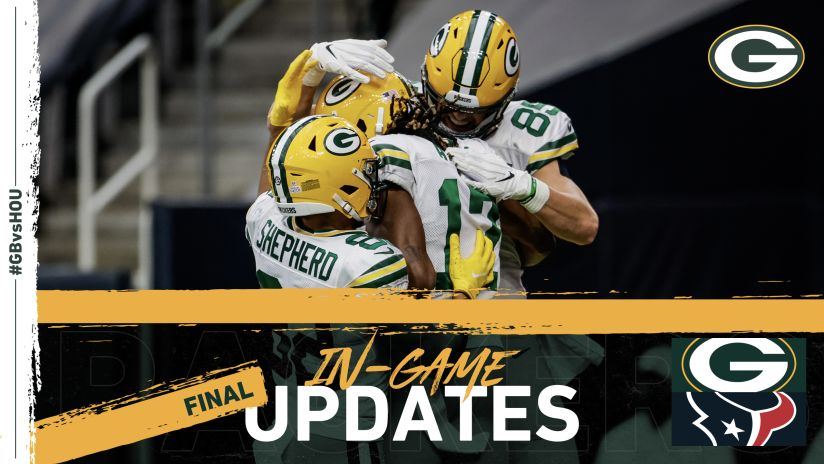 Packers Get Back On Winning Track Down Texans 35 20