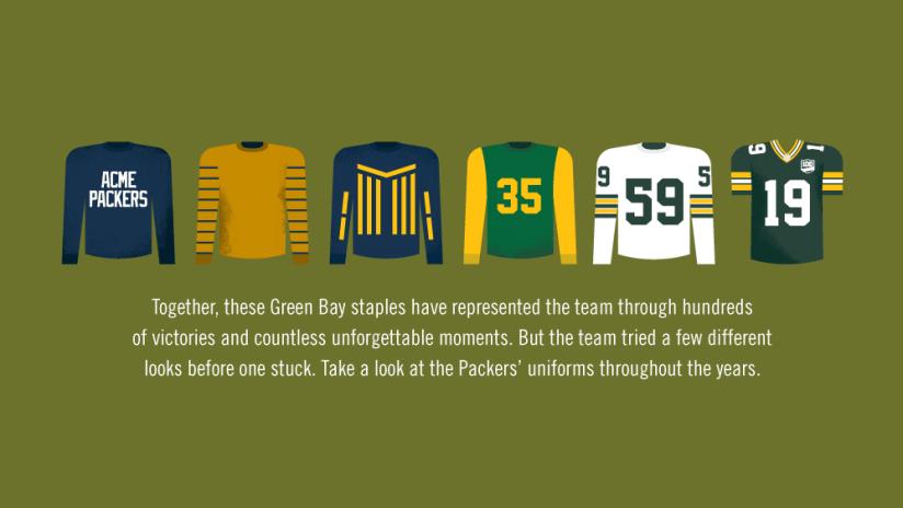 100 Seasons of Packers uniforms