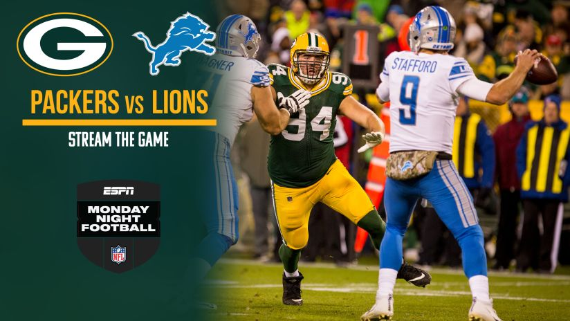 Image result for Monday Night Football week 6 lions vs packers