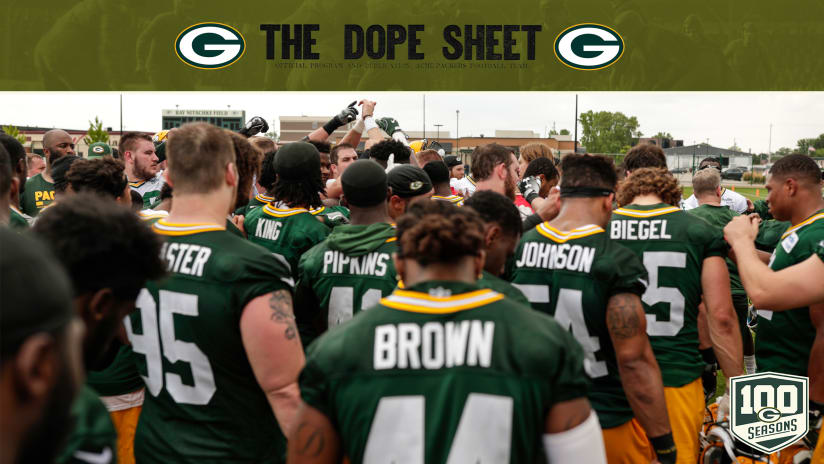 Training Camp Set to Begin in Green Bay. 180724-dope-sheet-2560 a016fdc8d