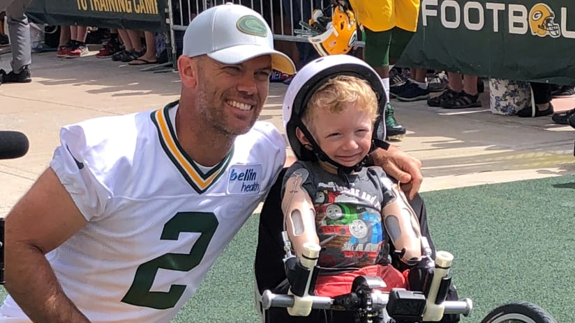 This summer gave Mason Crosby two more reasons to ride 1637034e3