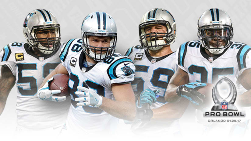 free shipping da064 f656b Four Panthers selected to 2017 Pro Bowl
