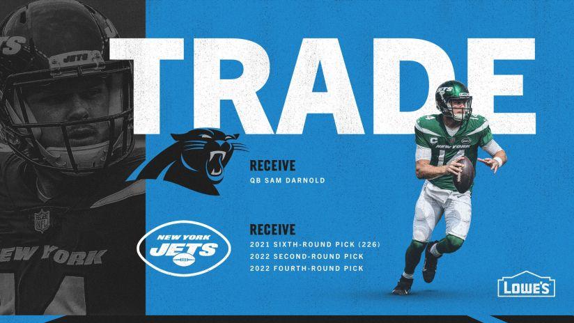 Panthers trade for quarterback Sam Darnold