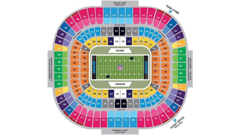 Carolina panthers stadium seating chart elcho table