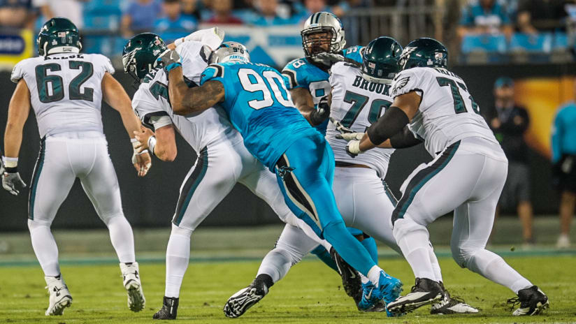 6c6f1c0f3e2 Carolina Panther Julius Peppers (90) sacks Philadelphia Eagle quarterback  Carson Wentz at Bank of