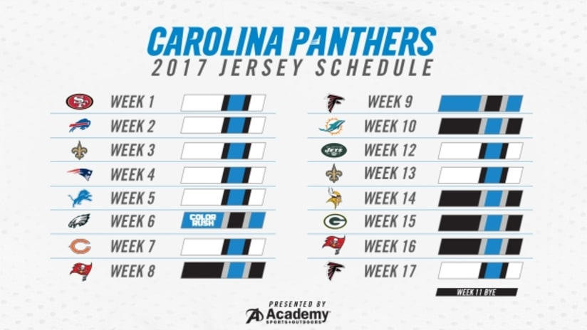 311c061e Panthers jersey schedule 2017