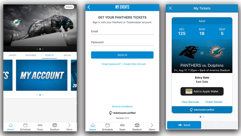 Panthers app offers new game day experiences in 2018 5c55dcd68