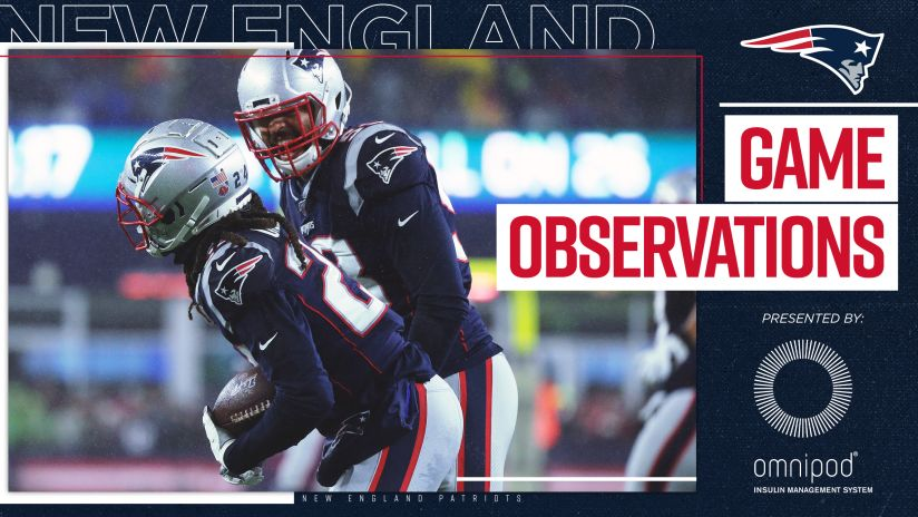 Game Observations Patriots Grind Out Tenth Win Knock Off