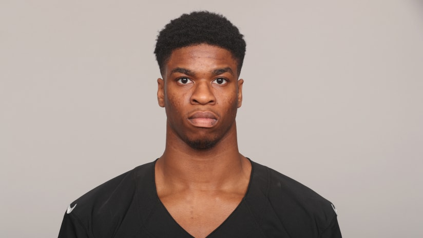 99b6c46385a9 This is a photo of Obi Melifonwu of the Oakland Raiders NFL football team.  This