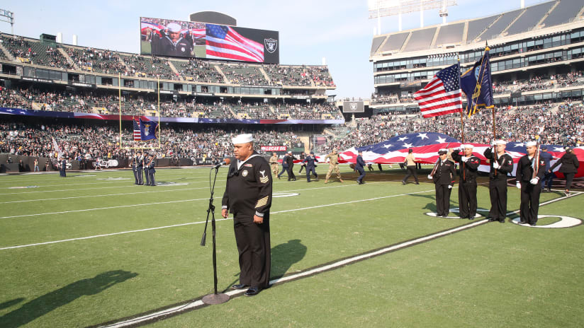 A Look Back: The Oakland Raiders' Week 10 Salute To Service  supplier