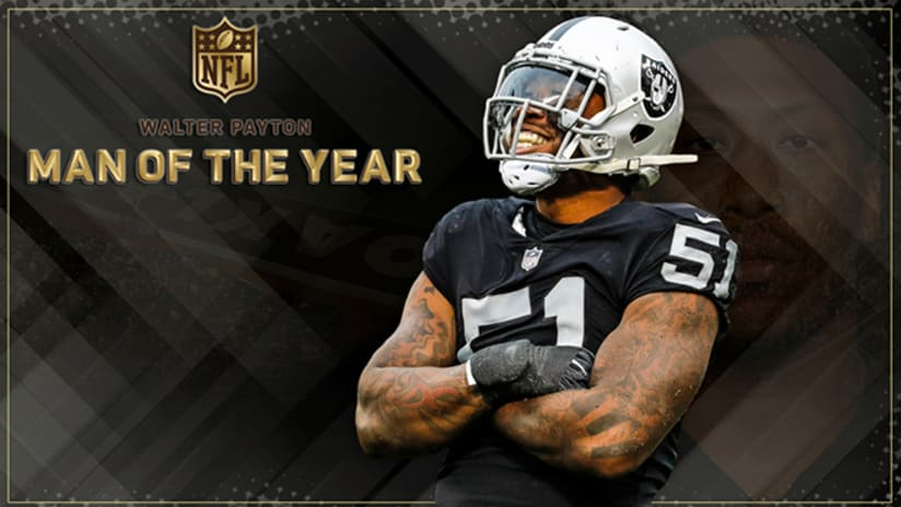 Bruce Irvin is the Raiders  nominee for the  WALTER PAYTON NFL MAN OF THE  YEAR AWARD e2c08633257