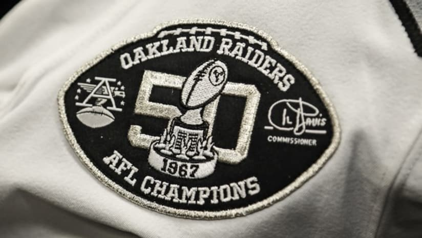 30fa52466 Raiders Commemorate 1967 AFL Championship With Jersey Patch.  101917-patch-cp.jpg