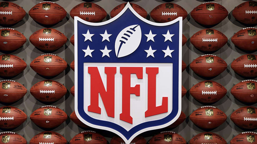 An NFL logo is displayed at the opening of