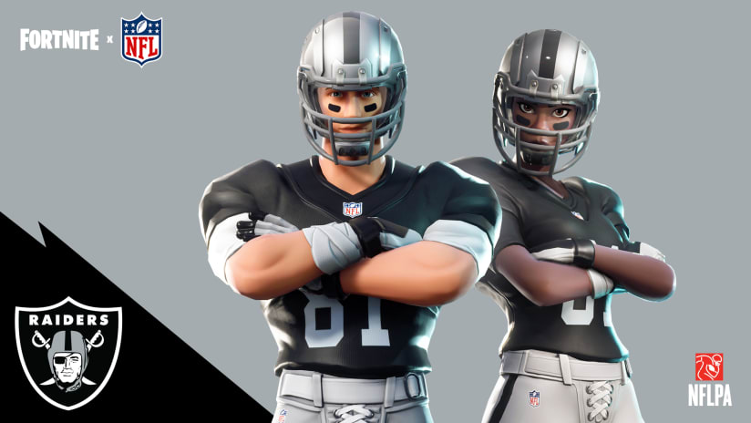 4cad76ad11d Fortnite meets the NFL: How you can wear the Silver and Black on the Battle  Bus