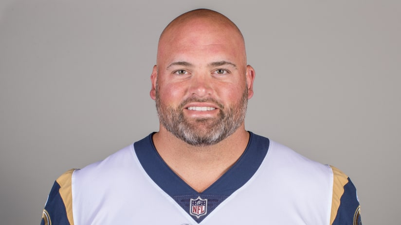 3aeb652b4 Headshot of tackle (77) Andrew Whitworth of the Los Angeles Rams