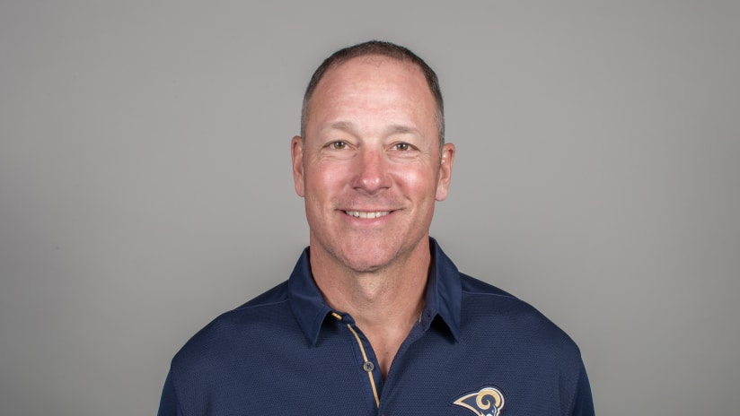 Aaron Kromer of the Los Angeles Rams headshot, Thursday, April 26, 2018, in Thousand Oaks, CA. (Jeff Lewis/Rams)