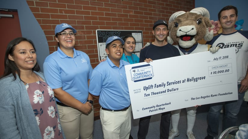 ... SoCal Honda Dealers. In Moyau0027s Honor, Uplift Family Services Received  $10,000 In Support Of Their Mission And Moya Was Recognized On Field During  The ...