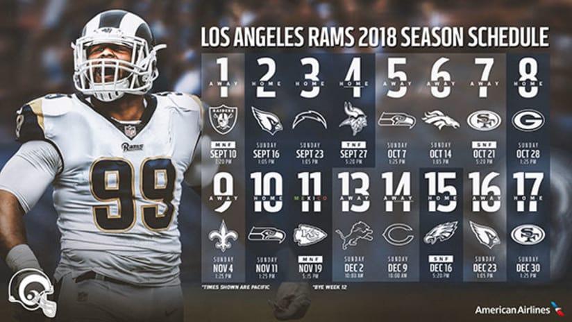 2018 Season Los Angeles Rams CUP 1