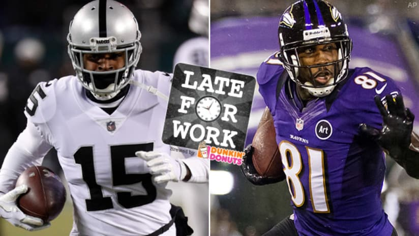 Late For Work 319 Anquan Boldin Gives Michael Crabtree Signing Two