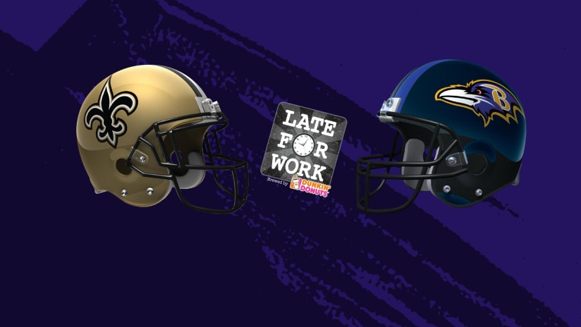 Late for Work 10 19  Predictions for Ravens vs. Saints 556f087ad