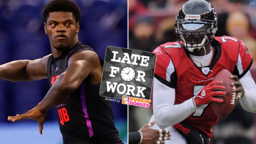 Late for Work 4 27  Michael Vick Says Lamar Jackson s 5 Times Better Than  Him  10 Draft Takeaways d13370d43
