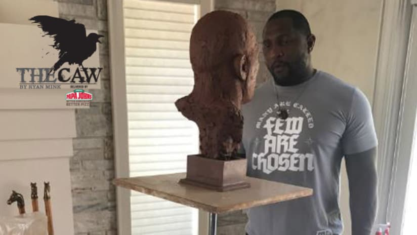 The Caw  Sneak Peek at Ray Lewis  Hall of Fame Bust e2cf53315