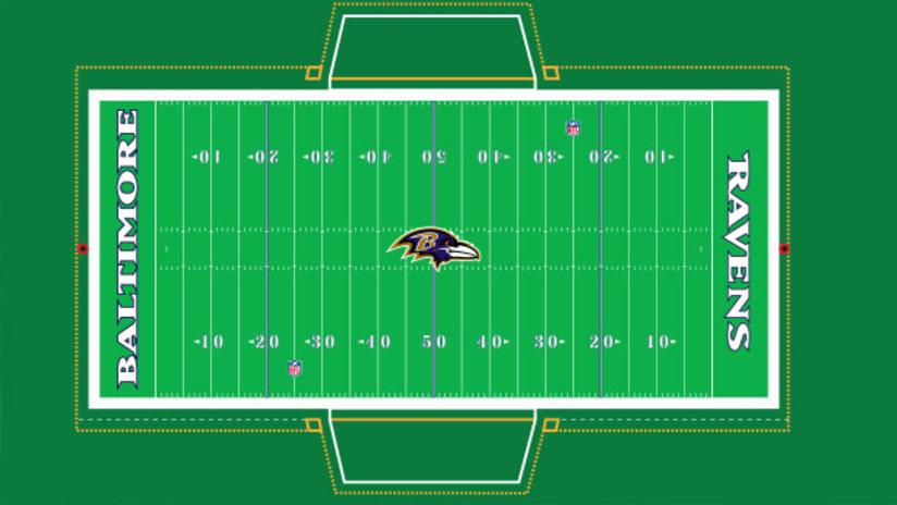 Ravens Changing M T Bank Stadium Field Paint