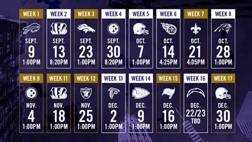 Baltimore Ravens 2019 Calendar Baltimore Ravens Announce 2018 Schedule