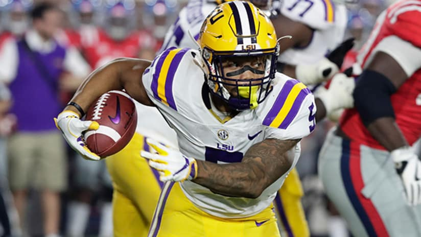 uk availability 37d87 01c53 Redskins Select LSU Running Back Derrius Guice In 2018 NFL Draft