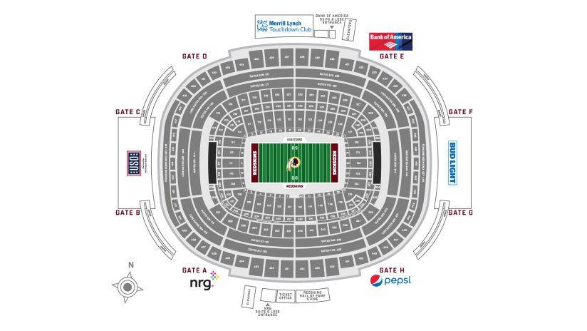 Fedexfield Stadium Guide Washington Redskins Redskins