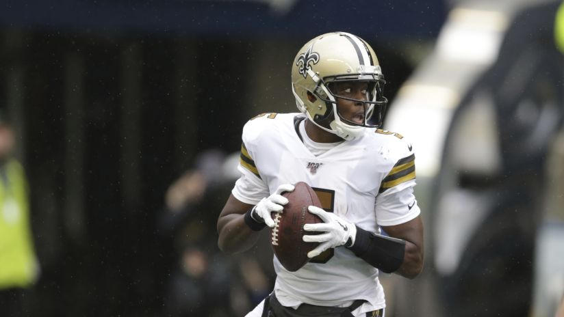 innovative design 28fb7 263c1 Quarterback Teddy Bridgewater leads New Orleans Saints in ...