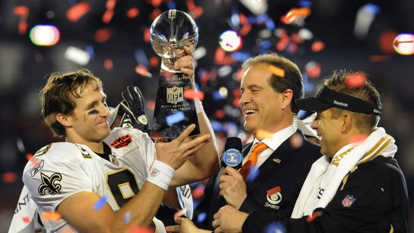 Flashback  Super Bowl XLIV. Photos from the New Orleans Saints ... a7107f5ef