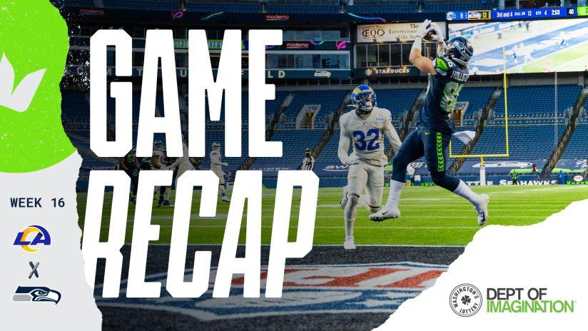 2020 Week 16 Seahawks Vs Rams Recap