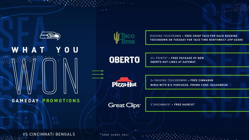 Seattle Seahawks Contests & Promotions   Seattle Seahawks