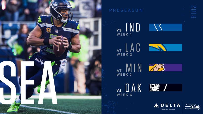 Seattle Seahawks 2018 Preseason Schedule