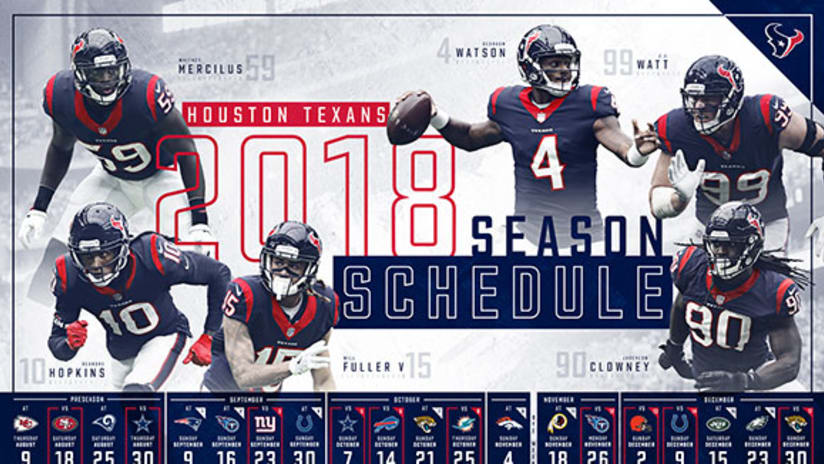 85b2d92d Houston Texans announce 2018 schedule