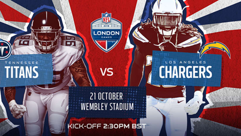 Image result for Tennessee Titans vs. Los Angeles Chargers at London
