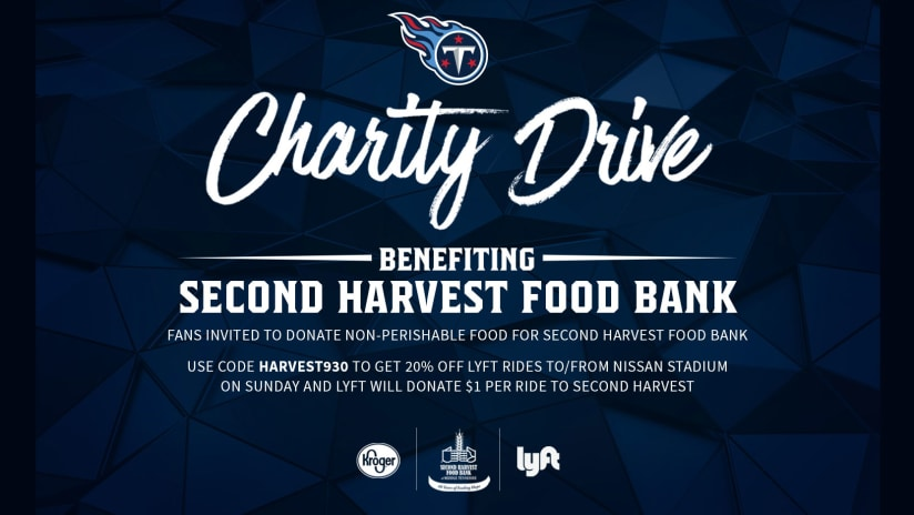 Titans Second Harvest Food Bank Conducting Food Drive At Nissan Stadium