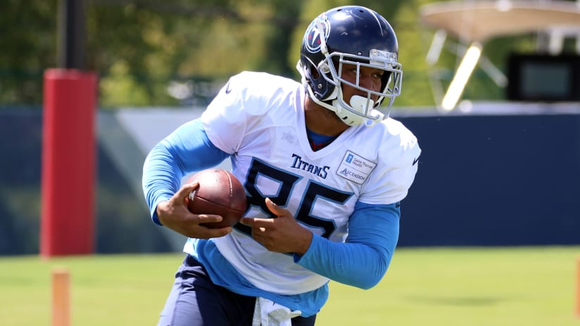 check out 03186 11d6f New Titans TE MyCole Pruitt Aims to Help Ease Loss of a ...