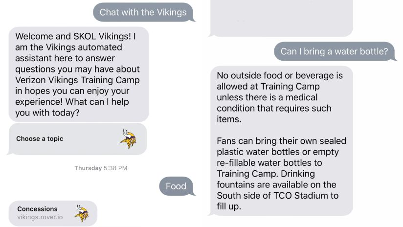 Satisfi Labs Partnership Helping Vikings Answer Camp Logistics Questions