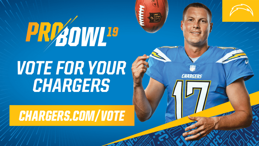 6ce706f85d1 Chargers fans may now vote to send their favorite players to the 2019 Pro  Bowl presented by Verizon on Sunday, January 27, 2019 at Camping World  Stadium in ...