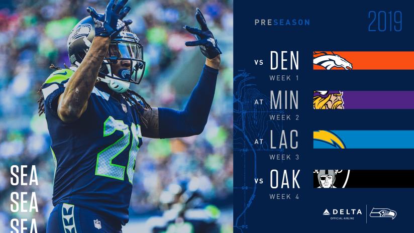 Seahawks 2019 Preseason Schedule